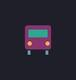 Bus computer symbol vector image vector image