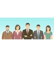 Business people group flat vector image vector image