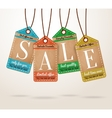 Cardboard price tags sale labels vector image