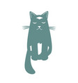 cartoon dreaming cat funny cool character vector image vector image
