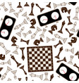 chess seamless background vector image