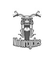 chopper motorcycle front side isolated vector image vector image