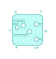 circuit board icon design vector image vector image