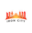 city with a tall tower logo template vector image