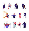 classical and popular music artists set symphony vector image vector image