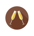 Clink glasses with champagne vector image vector image