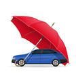 concept car under umbrella vector image