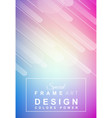 cover or flyer layout with geometric colorful vector image vector image