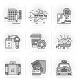 Creative Flat line ikon set vector image vector image