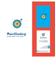 dart creative logo and business card vertical vector image vector image