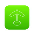 direction sign icon green vector image vector image