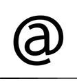 e mail icon design vector image