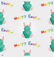 easter bunny with egg seamless vector image