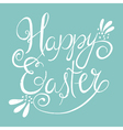 easter wording on blue background vector image vector image
