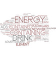 energy-containing word cloud concept vector image vector image
