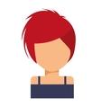 faceless girl icon vector image