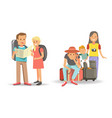 families that travel with children ready to go vector image vector image