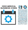 Gear Options Calendar Day Icon With 1000 Medical vector image vector image