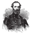 general george w morgan vintage vector image vector image