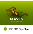 Glasses icon in different style vector image vector image