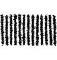 grunge irregular black lines pattern over white vector image vector image