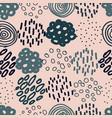 hand drawn circles and dots seamless vector image vector image