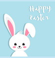 happy easter rabbit white cute bunny vector image vector image