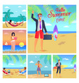 hello summer time business vector image vector image