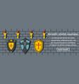 heraldic shields examples banner horizontal vector image vector image