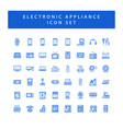 home appliances electronic icon set with filled vector image vector image