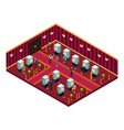 isometric casino interior room template vector image vector image