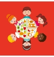 kids menu restaurant icon vector image