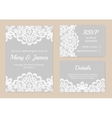 lace cards for wedding vector image vector image