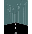 line art of city street vector image vector image