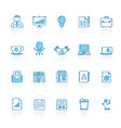 line with blue background business and office vector image vector image
