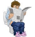 man on toilet vector image