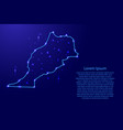 map morocco from the contours network blue vector image