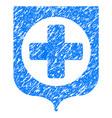 medical shield grunge icon vector image