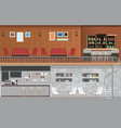 modern cafe shop interior vector image