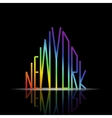 new york word in shape city vector image vector image
