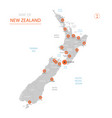 new zealand map with administrative divisions vector image vector image