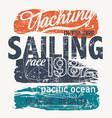 pacific ocean offshore yacht racing regatta vector image vector image