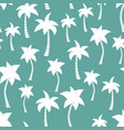palm tree silhouettes seamless pattern teal vector image vector image