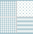 pastel blue plaid seamless pattern collection vector image