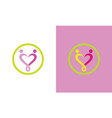 people love care logo vector image vector image