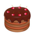 pie with cherry vector image