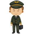Pilot in black uniform vector image vector image