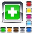 Plus square button vector | Price: 1 Credit (USD $1)