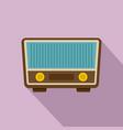 retro vintage radio icon flat style vector image vector image