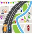 road infographics slight bend in road vector image vector image